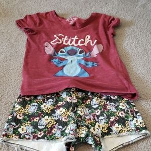 Disney Lilo & Stitch Tee and Short Set Size 0